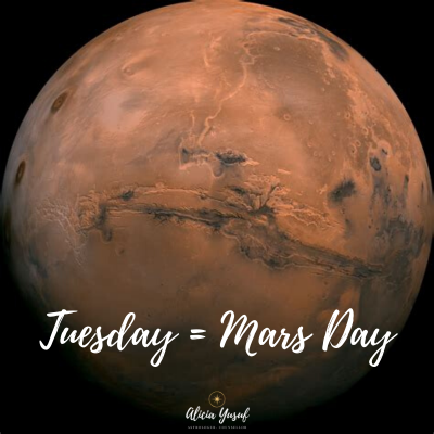 Planetary days – Tuesdays and Mars